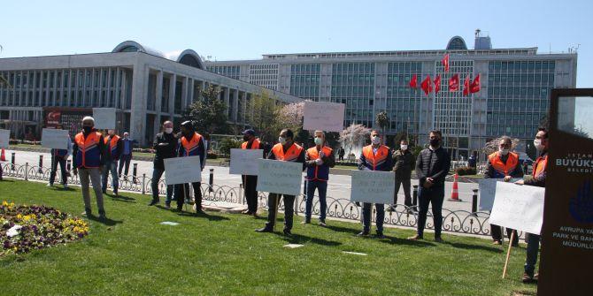 İBB'den paralarını alamadılar! Saraçhane'nin önünde eylem yaptılar