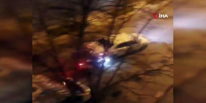Arnavutköy'de korku dolu anlar! İlk önce tartıştı sonra arabayla sürükledi