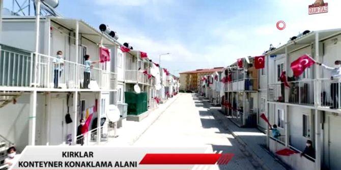 Bakan Süleyman Soylu'dan Konteyner kentte 23 Nisan coşkusu videosu!