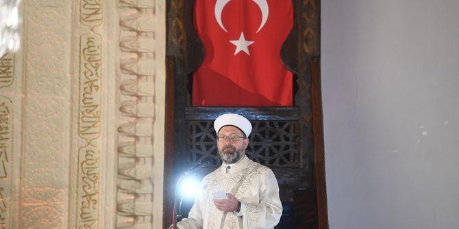 Diyanet İşleri Başkanı Ali Erbaş'tan cuma hutbesinde tüm insanlığa çağrı!