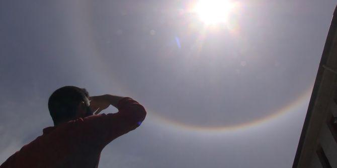 Tokat'taki enteresan doğa olayı görenleri şaşırttı!
