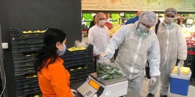 Marketlerde koronavirüs denetimi sürüyor!