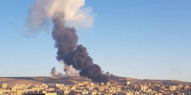 Afrin'de teröristler tarafından bomba yüklü tanker patlatıldı!