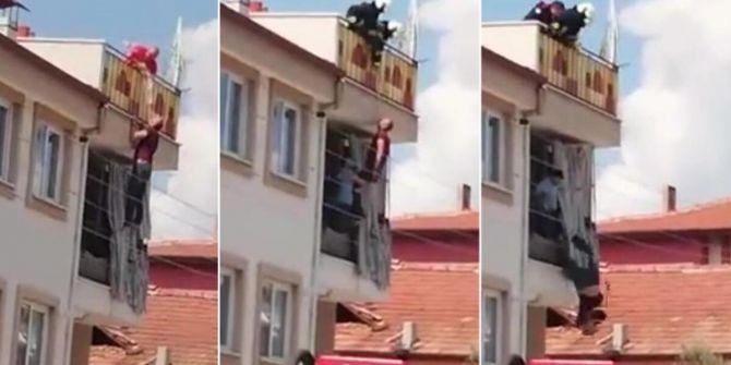 Denizli'de intihara kalkıştığı hortumu kopan adam, 10 metreden aşağı düştü!