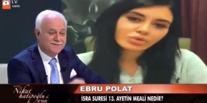 Ebru Polat'ın Nihat Hatipoğlu'na sorduğu soru izleyenleri şaşkınlığa uğrattı!