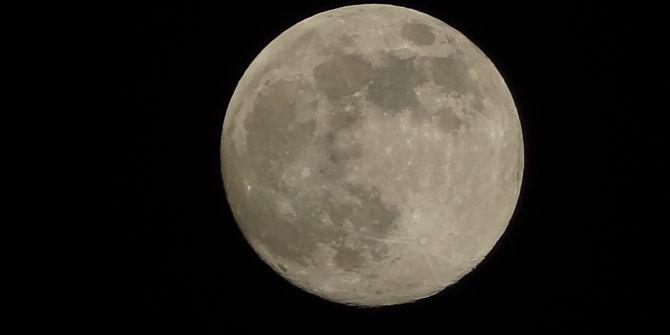 Süper Ay tüm parlaklığıyla Mersin'de görüldü!