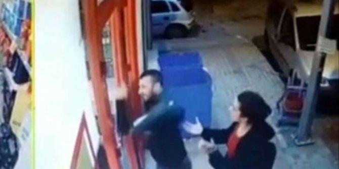 Güngören'de bir kişi genç kızın yolunu kesip marketi bastı!