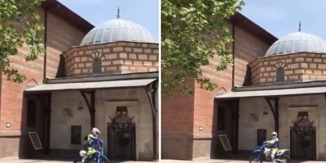 Ankara Valiliği açıkladı! 'Hacı Bayram'da motosikletle drift yapanlara ceza verildi