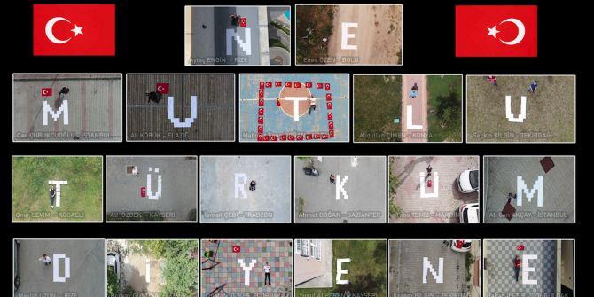 Drone pilotlarının 19 Mayıs mesajı büyük ilgi gördü!
