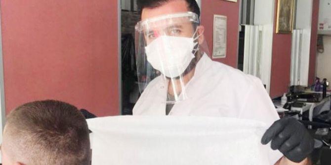Berberleri denetleyen doktorun testi pozitif çıkınca 50 kişi karantina alındı!