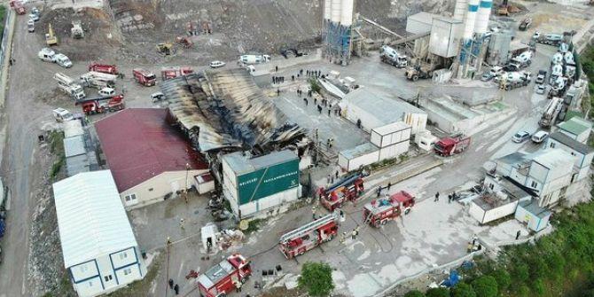 İstanbul Finans Merkezi şantiyesinde korkutan yangın!