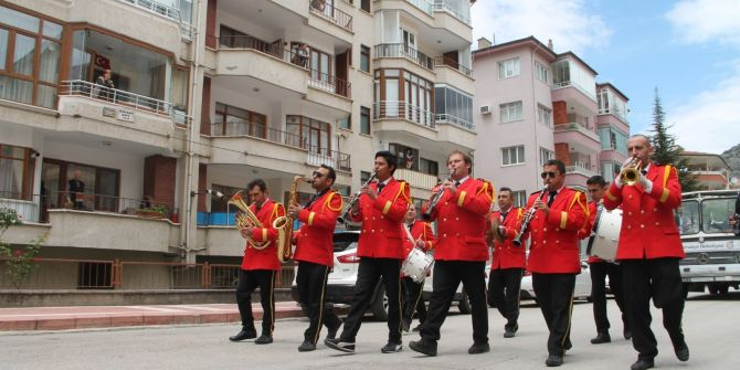 Amasya'da 156 yıllık belediye bandosu ile ilçe halkı bayramı doyasıya yaşadı!