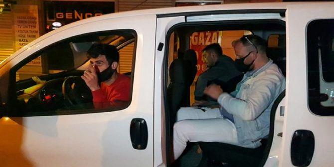 Kısıtlamanın bitmesini bekleyemediler! Yakalanınca 12 bin 600 lira ceza yediler