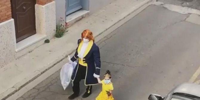 Baba ve kızın çöp atma videosu dünya çapında paylaşım rekoru kırdı!