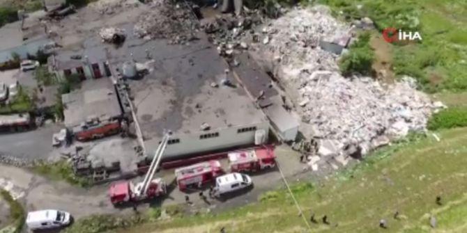 Başakşehir'de bir fabrikada korkunç patlama! Ölü ve yaralılar var