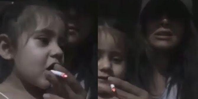 25 yaşındaki genç kız kardeşine zorla sigara içirdi! Tepkiler çığ gibi büyüdü