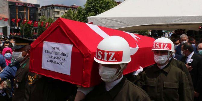 Şehit Ethem Demirci, memleketi Samsun'da son yolculuğuna uğurlandı!