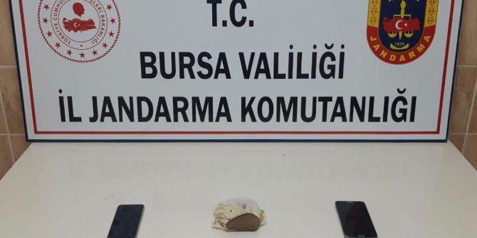 Bursa'da lavaş arasından 500 gr esrar çıktı!