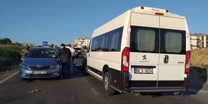Tekirdağ'da feci kaza! Siparişi yetiştirmek isteyen kurye otomobilin camına uçtu