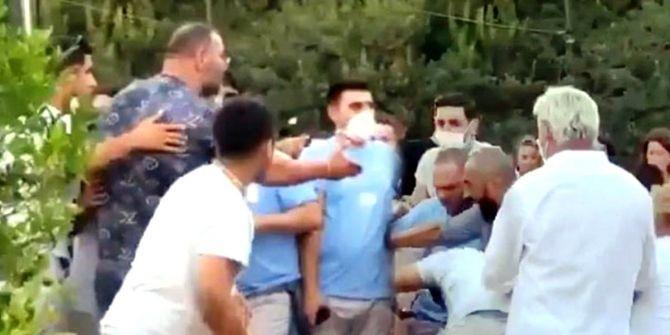 Lahmacun-ayranın 150 liraya satıldığı sosyetik işletmede maske kavgası!