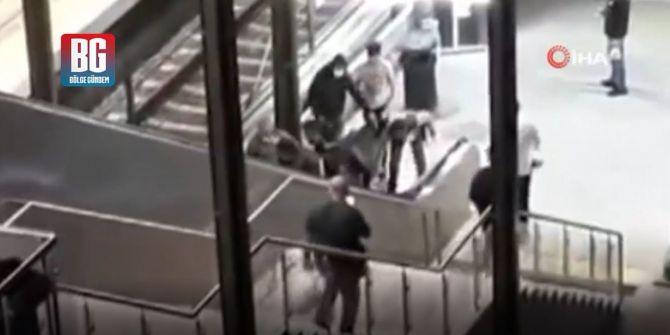 Kadın güvenlik görevlisine küfür etmişti! O şahıs vatandaşlar tarafından linç edildi