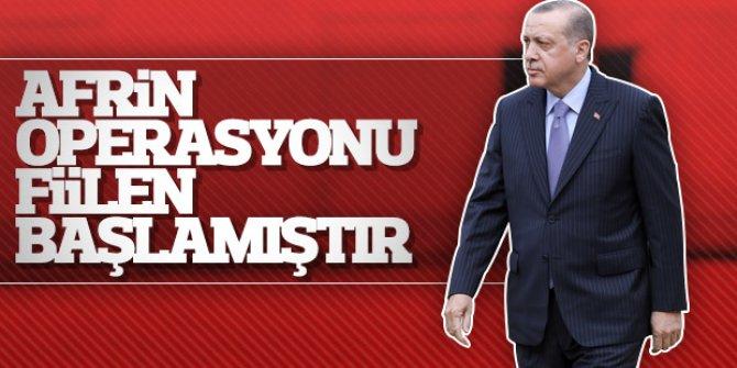 """""""Afrin operasyonu fiilen başladı"""""""