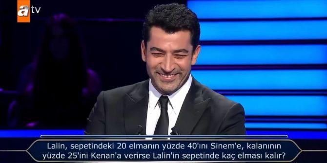 Kim Milyoner Olmak İster'de Kenan İmirzalıoğlu'nu şaşırtan aile sorusu!