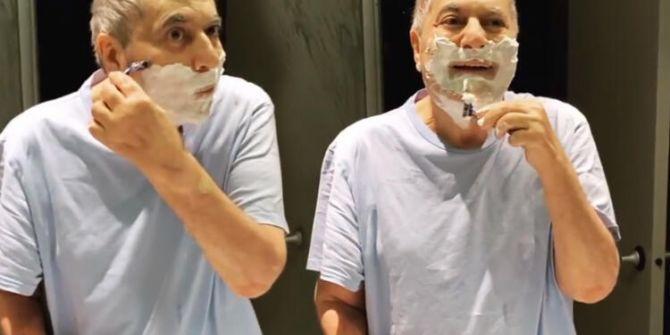 Mehmet Ali Erbil'in tıraş olduğu görüntülere çokça beğeni geldi!