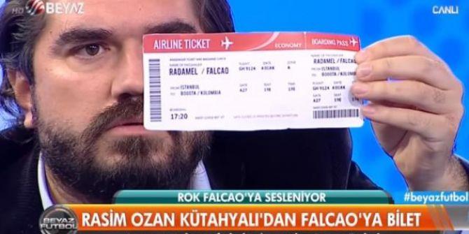 Rasim Ozan Kütahyalı'dan Falcao'ya biletli haykırış: ''Şerefinle Türkiye'yi terk et''