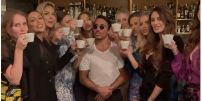 Nusret'in 10 güzelle çektiği kahve videosuna beğeni yağdı!