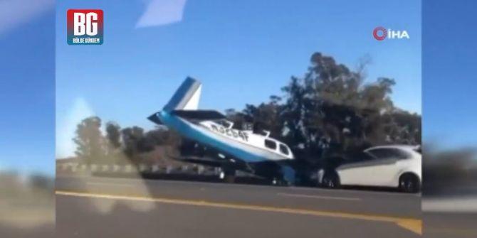 ABD'de uçak kazası! Acil iniş yaptığı otoyolda ortalığı karıştırdı