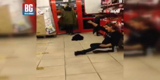Yakalanan kadın hırsızların kaçmak isterken oynadıkları oyun görenlere pes dedirtti!