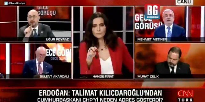 Mehmet Metiner ile Uğur Poyraz arasında canlı yayında darbe polemiği!