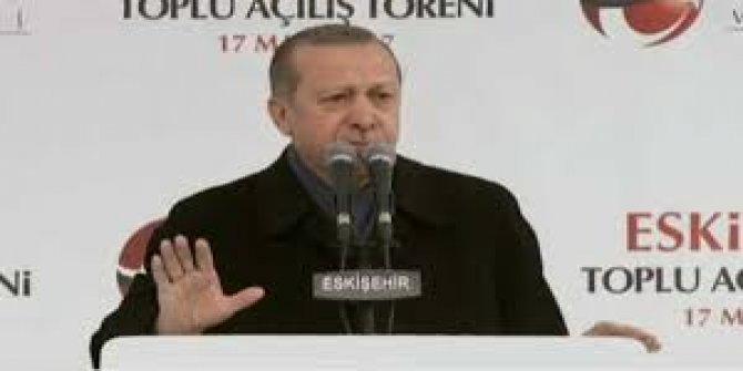 Erdoğan Eskşehir'de Konuştu: Korkaklar zafer anıtı dikemez