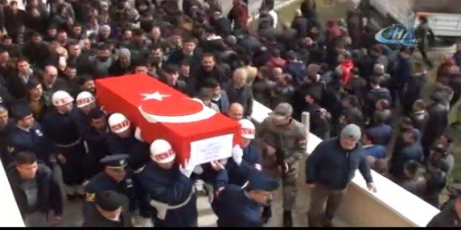 Şehit Piyade Uzman Çavuş Mustafa Eker son yolculuğuna uğurlandı